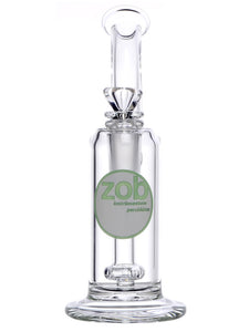 Zob 8 inch Princess Bubbler with Mini Flat Disc Percolator