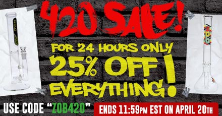 420 Sale! 25% off everything site-wide for 24 hours!