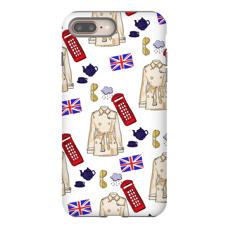 British Tea Print Phone Cases