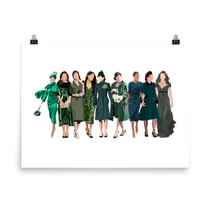 Royals In Green Poster