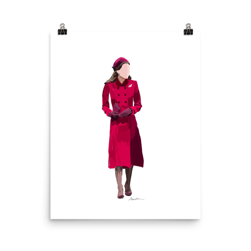 Kate in Pink Poster - Amelia Noyes Design