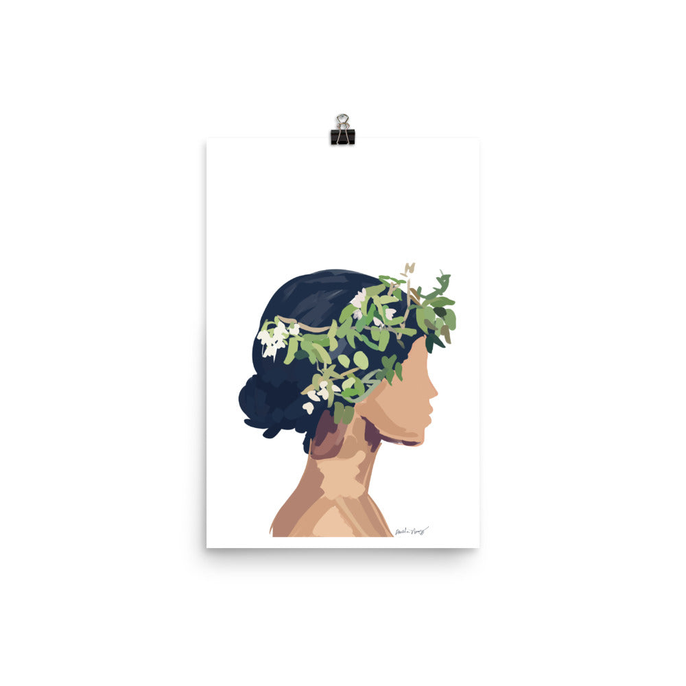 Tropical Girl Poster - Amelia Noyes Design