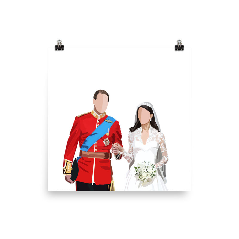 Kate and William Wedding Poster - Amelia Noyes Design