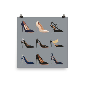 Royal Couture Shoes Poster