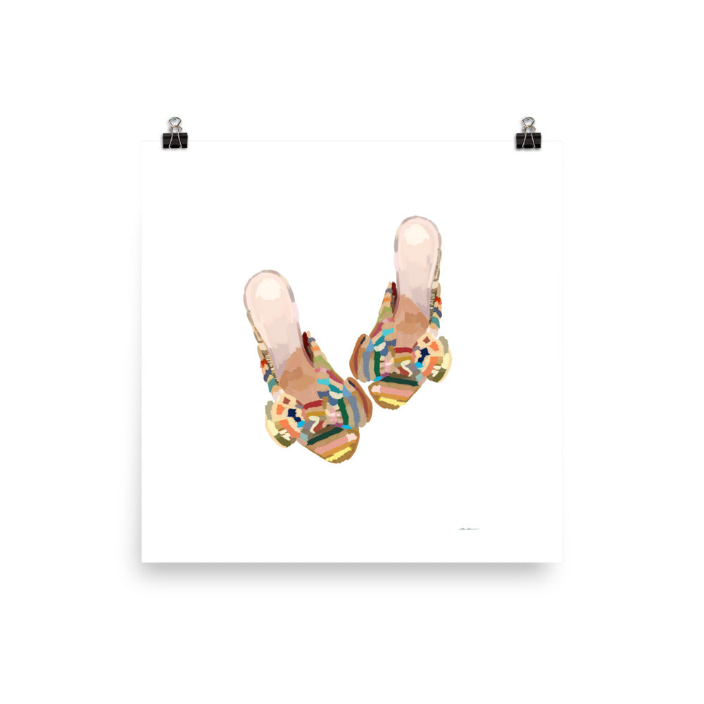 Colored Sandals Poster - Amelia Noyes Design