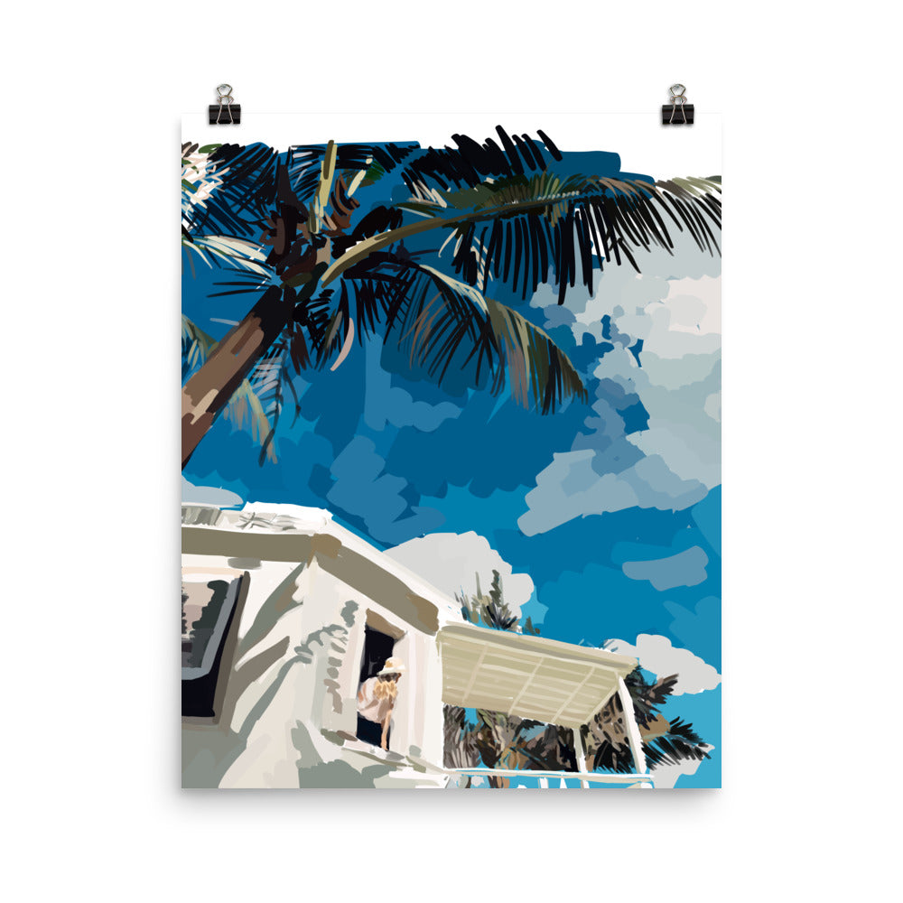 Tropical Vibes Poster - Amelia Noyes Design