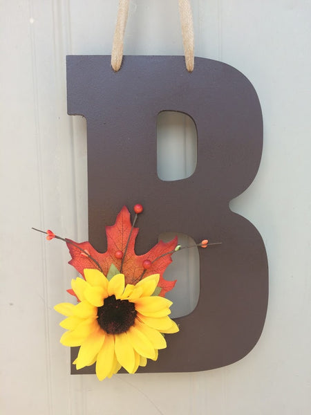 Autumn Monogram Door Hanger