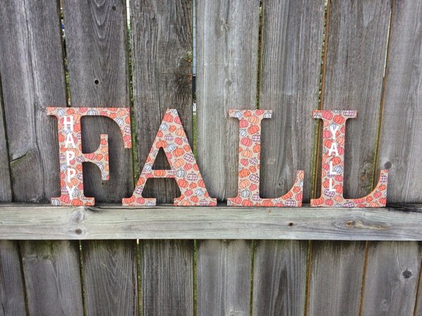 Fall Decor - FALL Wooden Word Wall Decal, Wooden Lettering, Word Art, Decorative Letters, Home Decor - Red River Valley Designs