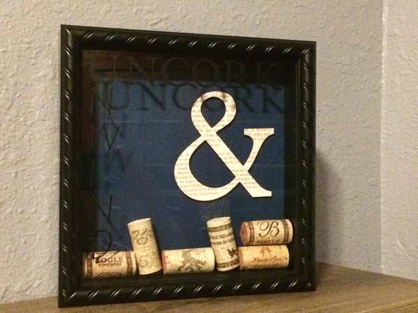 Wine Art, Wine Shadow Box Frame, Wine Decor, Wine Cork Art, Gift For Her, Vino Shadow Box Art, Wall Boxes For Wall