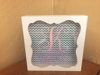 Monogram Shadow Box Bank - Personalized Piggy Bank - Red River Valley Designs