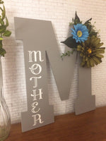 Mothers Day Birthstone Decorative Letter - Red River Valley Designs