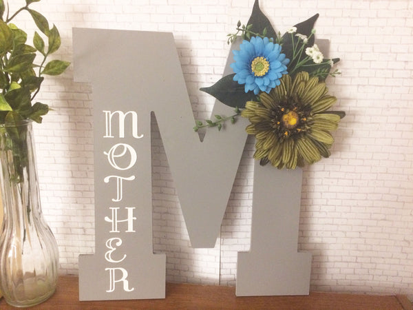 Mothers Day Birthstone Decorative Letter