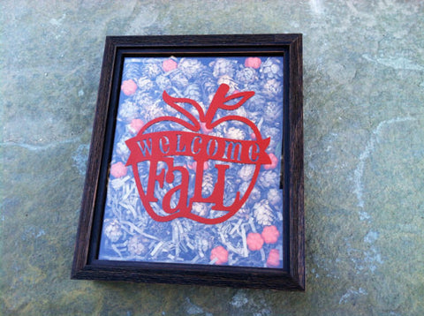 Fall Decor - Wooden Shadow Box, Autumn Decor, Shadow Box Frame,  Fall Decorations, Autumn Decor