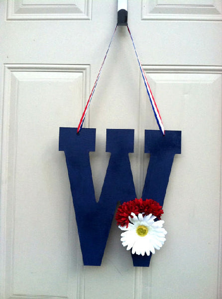 Patriotic Monogram Door Decor - Red River Valley Designs