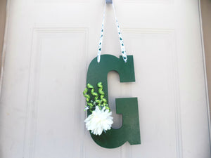 St Patricks Day Door Hanger Monogrammed Gifts Front Door Decoration Wedding Present Decorative Letters, Irish Decor