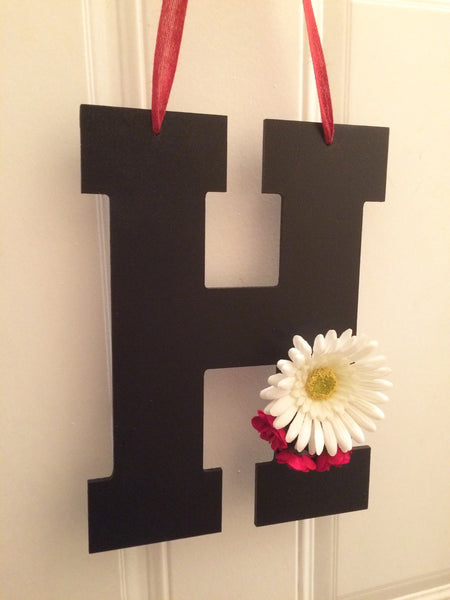 Initial Door Hanger - Monogram Letter - Red River Valley Designs