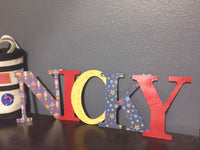 Outer Space Nursery Decor - Name Letters - Red River Valley Designs
