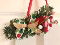 Whimsical Monogram Christmas Door Hanger - Red River Valley Designs