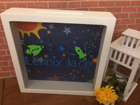 Outer Space Bank and Baby Shower Card Box - Red River Valley Designs