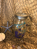 Mermaid Mason Jar Money Jar - Red River Valley Designs