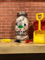 Backyard Explorer Mason Jar Piggy Bank - Red River Valley Designs