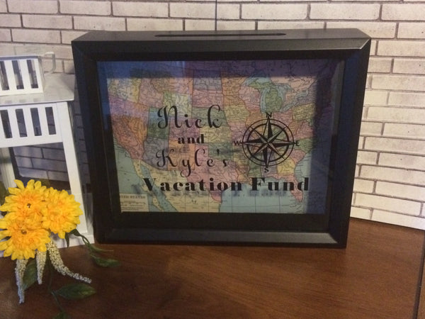 Personalized Vacation Fund Shadow Box