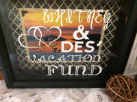 Personalized Vacation Fund Shadow Box Bank - Red River Valley Designs