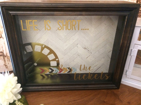 Ticket Holder Shadow Box Art - Red River Valley Designs