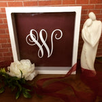 Large Initial Wedding Card Box - Red River Valley Designs