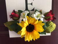 Hanging Welcome Sign With Sunflower Floral Embelishment