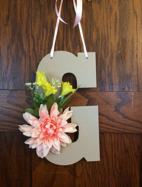 Spring Monogram Door Hanger