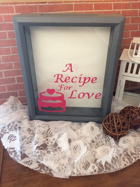 Recipe for Love Bridal Shower Box - Red River Valley Designs