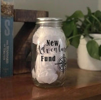 New Adventures Fund Money Jar - Red River Valley Designs