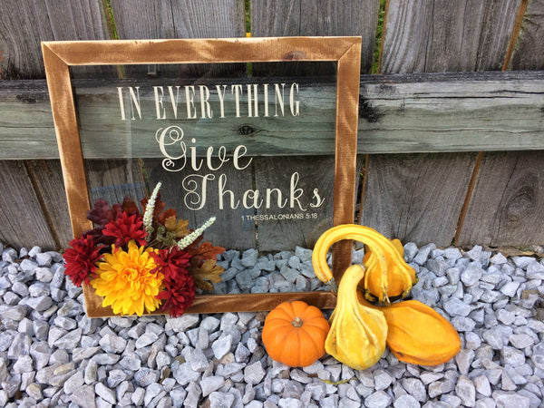 Upcycled Thanksgiving Sign  Christian Art - Red River Valley Designs