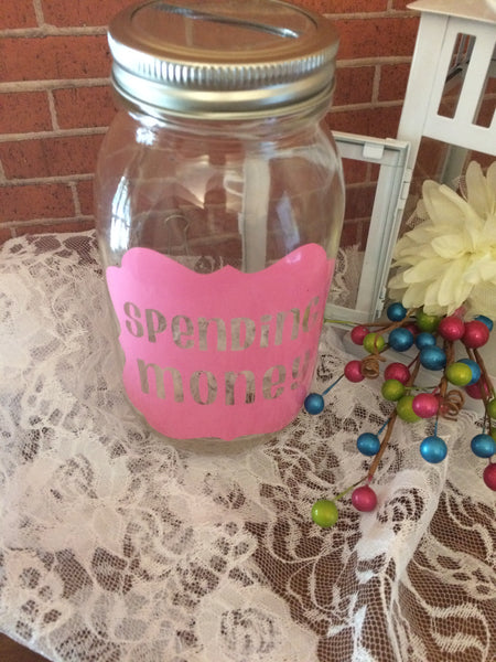 Spending Money Mason Jar Money Bank