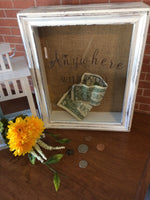 Anywhere With You Shadow Box Bank - Travel Fund - Red River Valley Designs