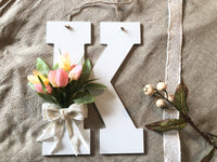 Tulip Monogram Door Hanger - Red River Valley Designs