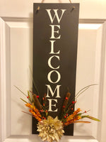 Autumn Hanging Welcome Sign - Red River Valley Designs