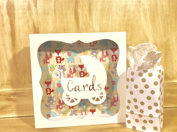 Baby Shower Card Box, Card Holder, Gift Card Box, New Mother Gift, Baby Shower Decor - Red River Valley Designs
