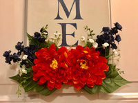 Navy and Orange Hanging Welcome Sign - Red River Valley Designs
