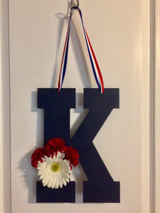 Patriotic Decor Monogram Door Hanger Monogrammed Gifts Front Door Decoration Wedding Present Decorative Letters