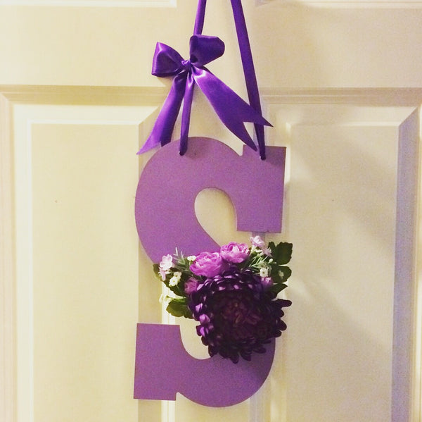 Pretty in Purple Monogram Decorative Letter - Red River Valley Designs