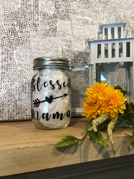 Blessed Mama Money Jar - Red River Valley Designs