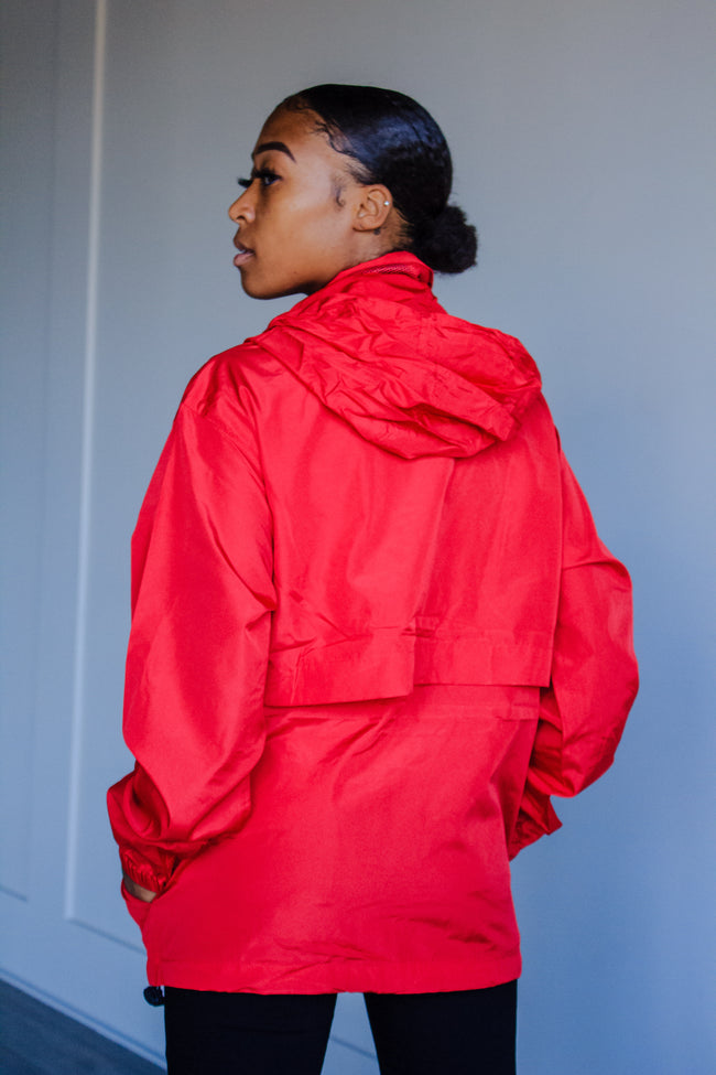 Red Full Zip Jacket