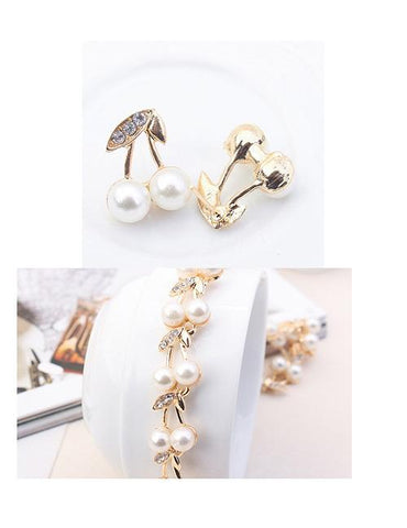 Fashion Gold Color Cherry Shape Decorated Jewelry Sets