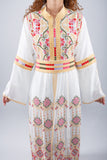 Zoom - White kaftan with yellow embroidery - Bayt Alya
