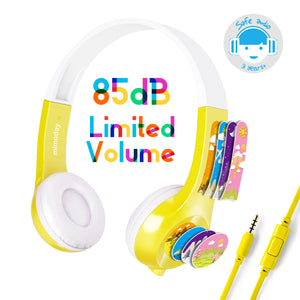Mimoday Kids Headphones for Kindle Fire Kids Edition Tablet Volume Limiting with Microphone Over Ear Headphones for Boys Girls
