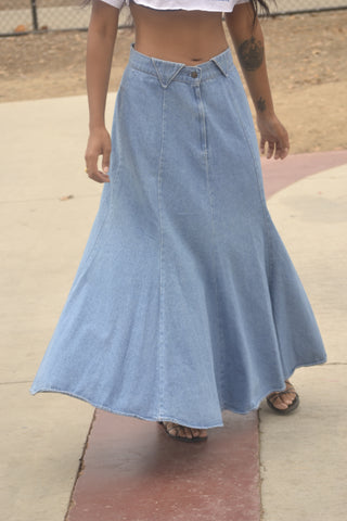 DENIM FLOW VINTAGE SKIRT