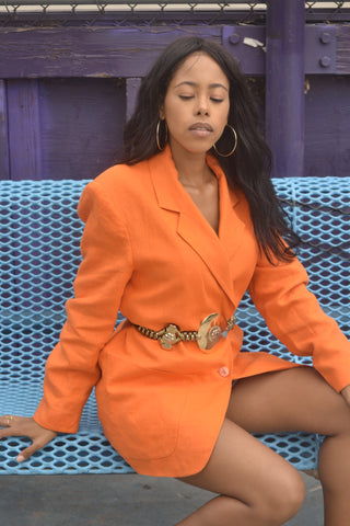 BOYFRIEND ORANGE VINTAGE BLAZER