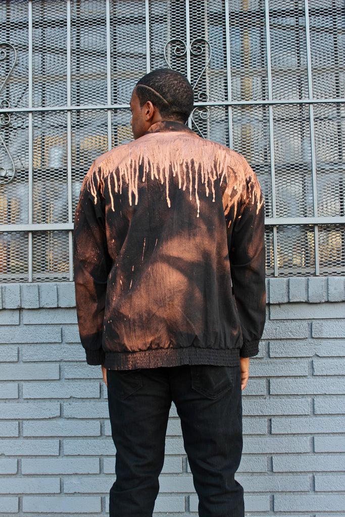COPPER GOLD WINDBREAKER JACKET